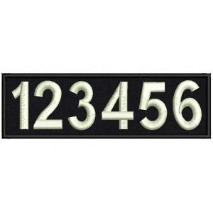 Табелка с номер за полицейска униформа