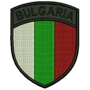 Бълг. Флаг с надпис Bulgaria - щит