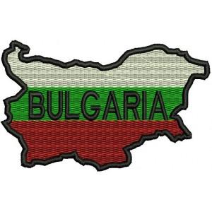 Бълг. карта-флаг с надпис Bulgaria