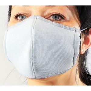 Защитна маска за носа и устата - текстилна - сива