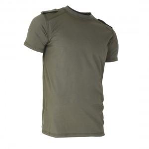 Тениска с къс ръкав и пагони-Green